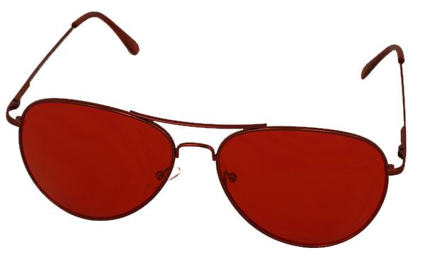 Solglasögon i Aviator   Pilot-modell med rött glas dc1a4f52c1ca2