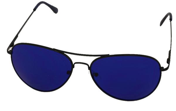 Solglasögon i Aviator   Pilot-modell med blått glas a899cbc19f746