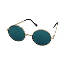 Runda John Lennon-solglasögon med turkost glas - Design nr. 1001 87a6b42bc0c3e