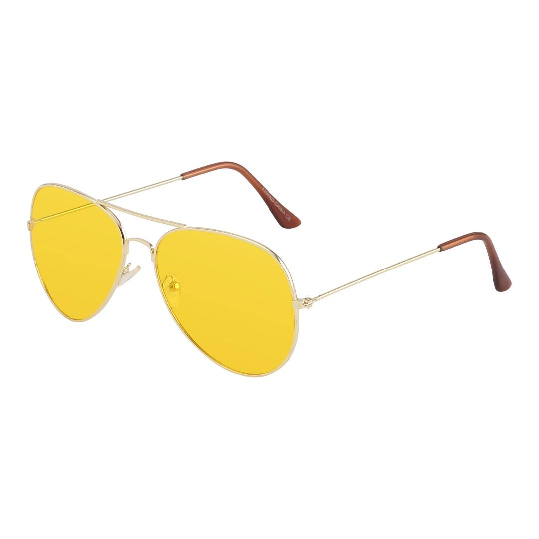 Aviator   Pilot-solglasögon i guld med gult glas - Design nr. 1063 a13f0aef04a7d