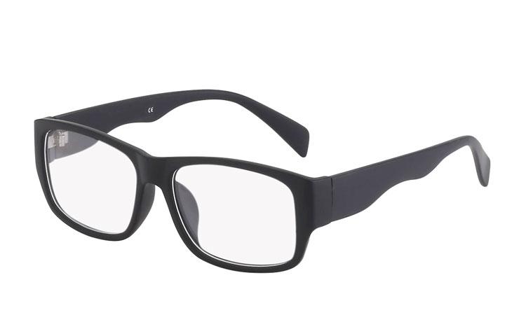 Svarta matta glasögon utan styrka - Design nr. 3020 3a3a418cd187a