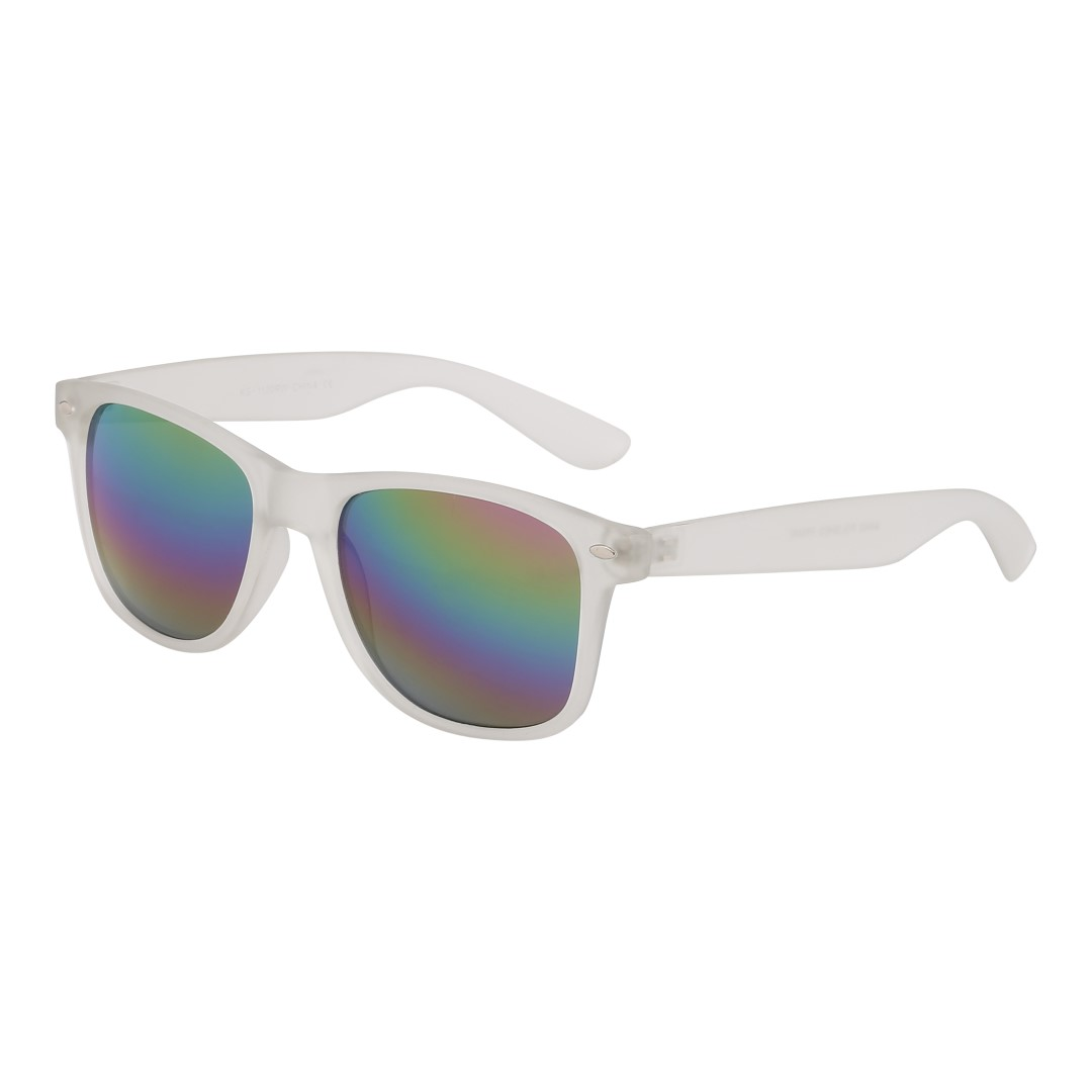 Wayfarer solglasögon i matt transparent - Design nr. 3040